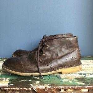 Ugg leather chukka boot